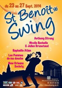 Affiche Saint Benoit Swing 2014
